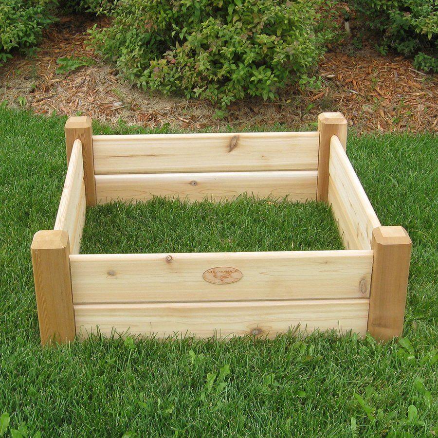 Natural Cedar Raised Garden Beds: Gronomics 34-in W X 34-in L X 13-in H Natural Cedar Raised