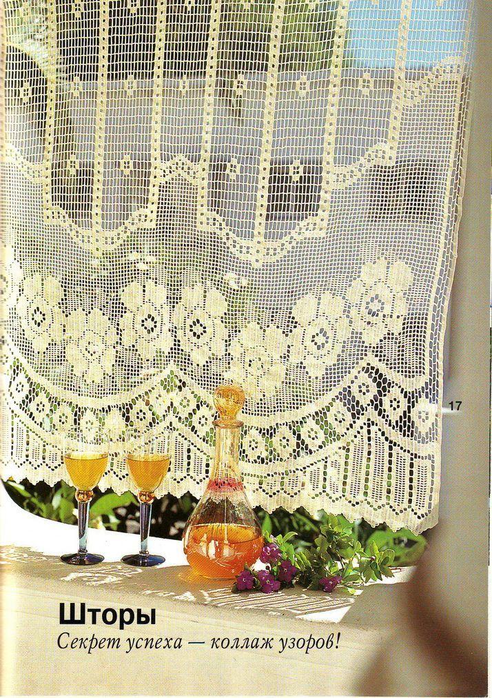 filet crochet curtain gehaakte gordijnengehaakt