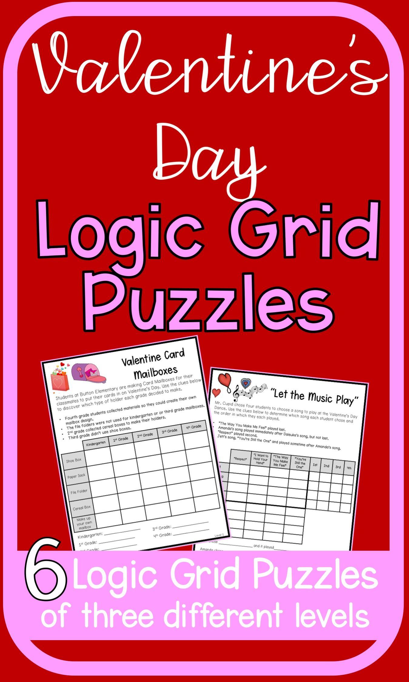 Valentine S Day Logic Puzzles