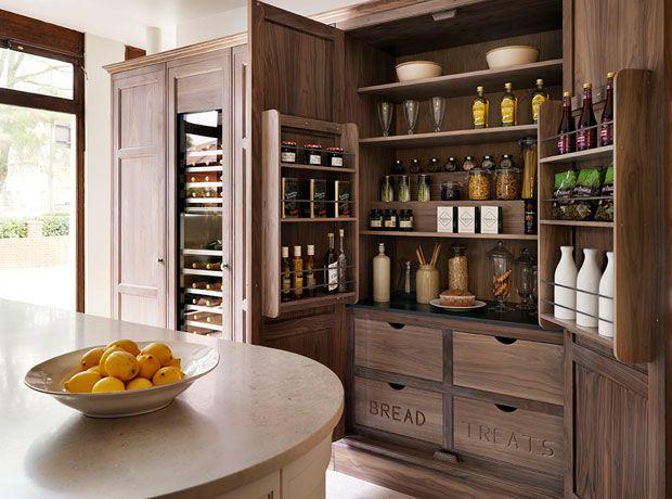 Teddy Edwards Bleached Oak Tall Larder Cabinet. Love The