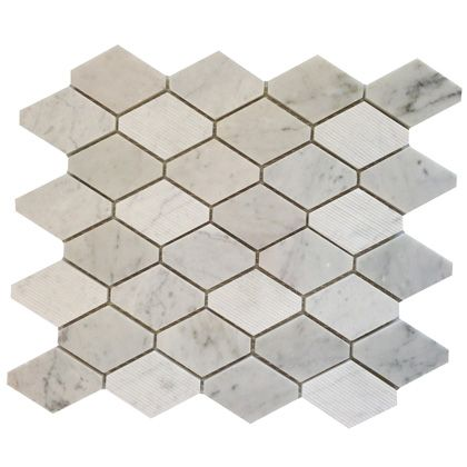 Perini Tiles Diamond Elongated Hexagon Tiles Stainless Backsplash Farmhouse Backsplash Metallic Backsplash
