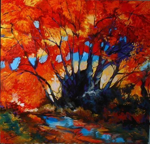 Marcia Baldwin: Fall Landscape Red Trees