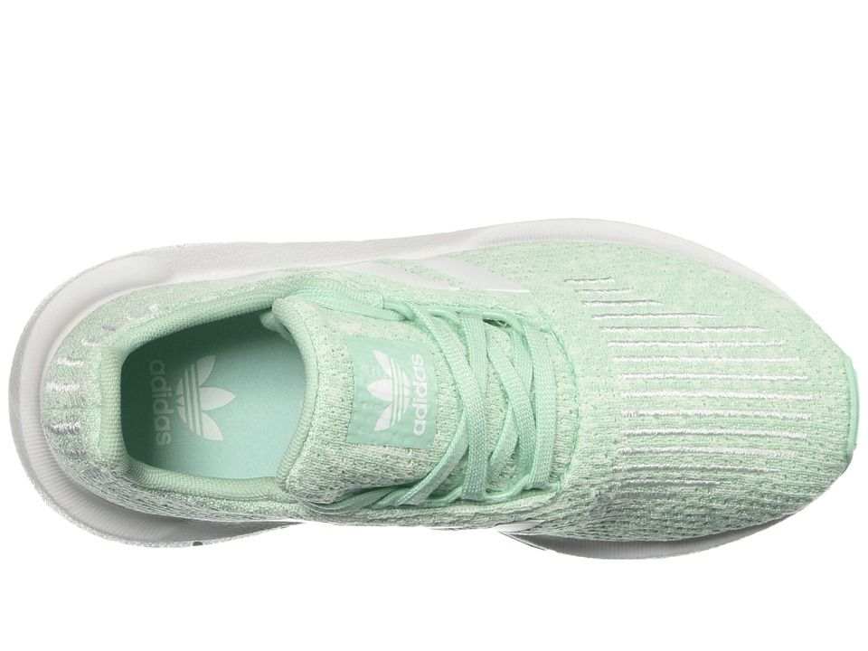 adidas Originals Kids Swift Run C (Little Kid) (Clear Mint