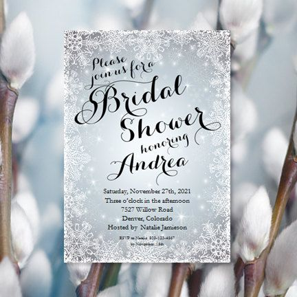 Snowflake Bridal Shower Invitations Winter Wedding Shower Printable Bridal  Shower Invitation Templates Make Your Own Invitations DIY U Print