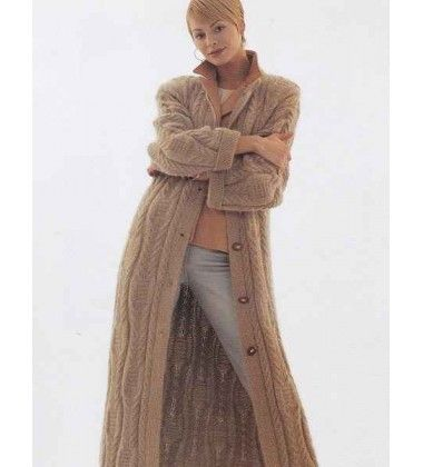 Womens Tunic Sweater Long Coat Knitting Pattern Enzo Lucci 400