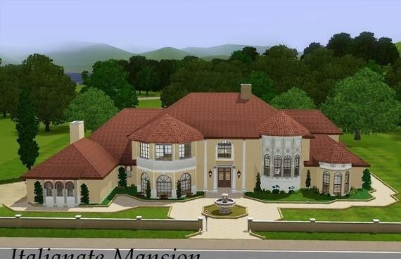 Sims3 Italianate Mansion Sims House Design Sims 3 Houses Ideas Sims House