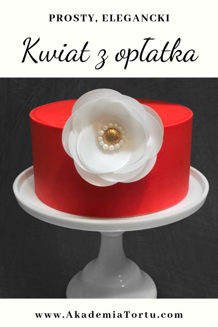 Kwiat Z Papieru Waflowego Akademiatortu Pl Cake Stand Cake
