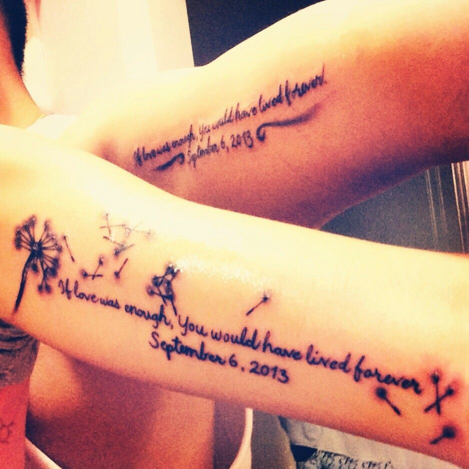 Tattoo Quotes For Passed Loved Ones: Beautiful Tattoo In Honor Of A Lost Love One.