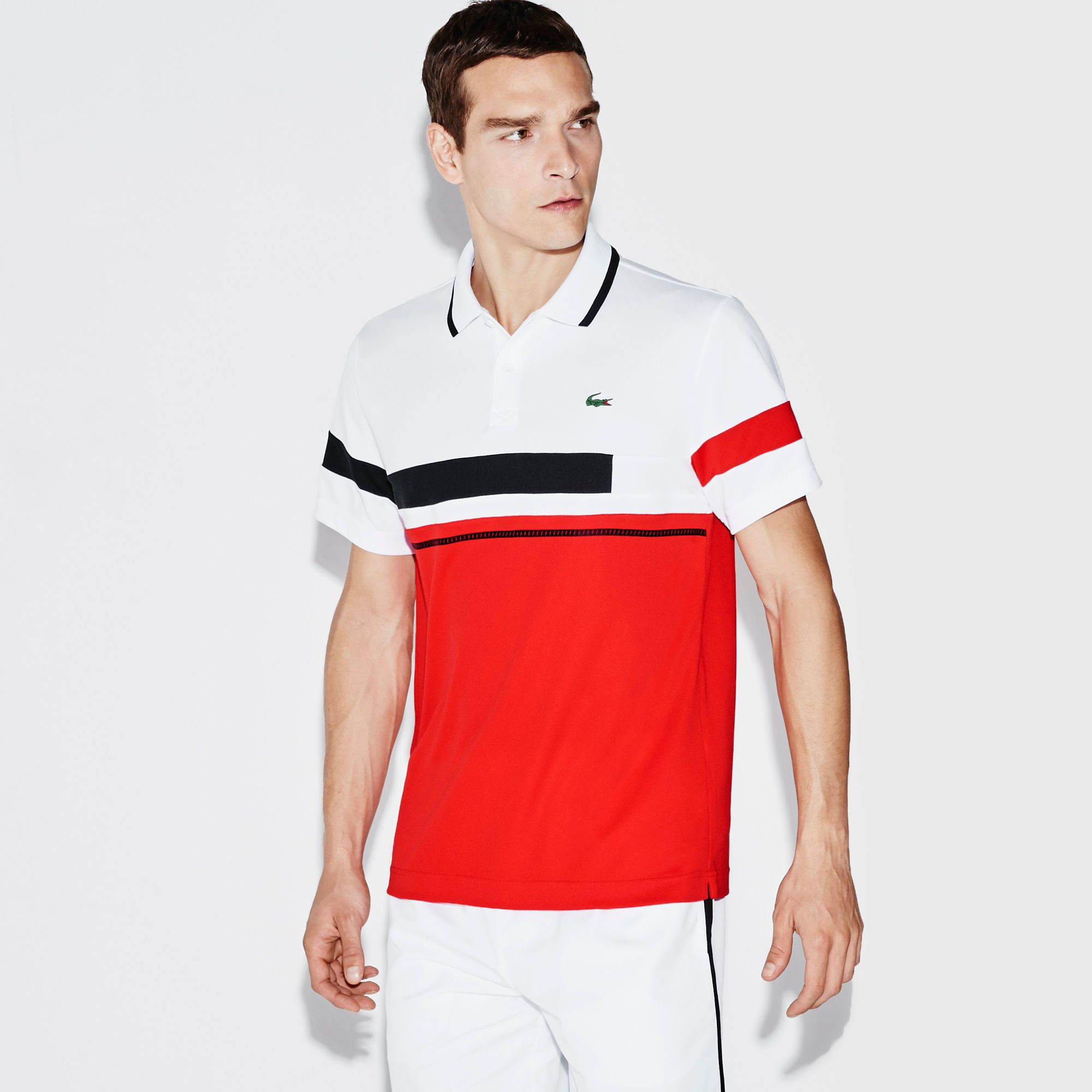 Men S Sport Ultra Dry Color Block Tennis Polo Lacoste Polo Shirt Design Mens Polo Shirts Casual Shirts For Men