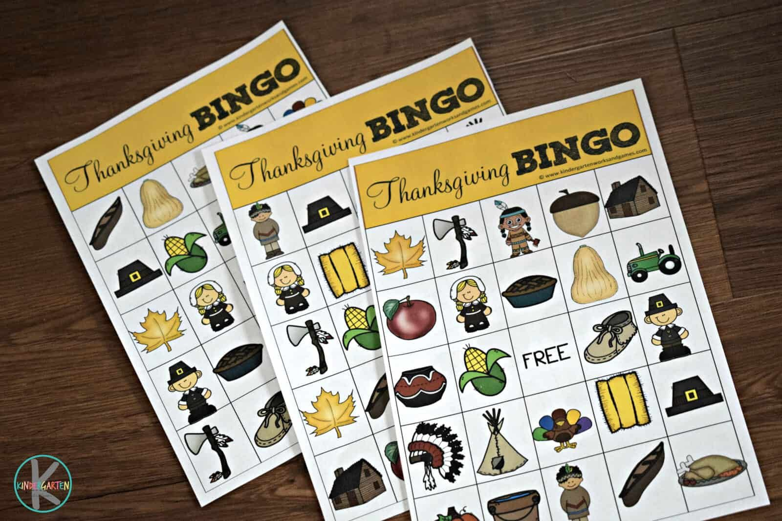 Free Thanksgiving Bingo