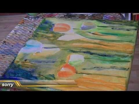 Acrylmalerei Tulpen Malen Painting Tulips Tutorial Youtube