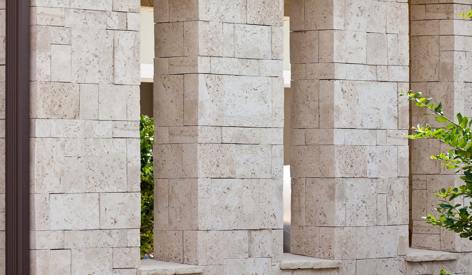 Stone Wall Cladding Exterior Interior Coastalreef Pearl White ...