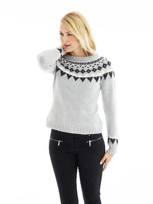 ab7261aa3c38 Bluse med nordisk mønster - strikkekit
