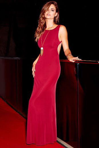 Attending a formal event? This Wine Red Backless Maxi Dress is perfect! Get it: www.teelieturner.com #fashion