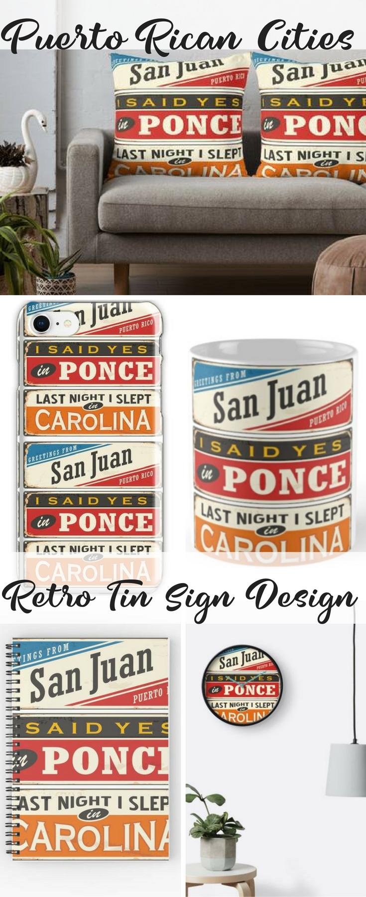 This Cute Retro Design Starts In San Juan Puerto Rico Is An Island