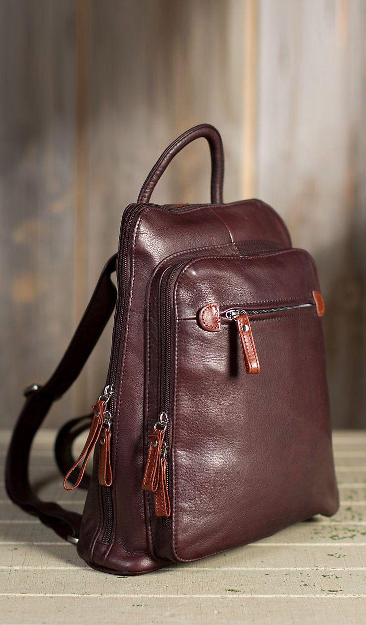 Macy Leather Backpack Handbag Overland Sheepskin