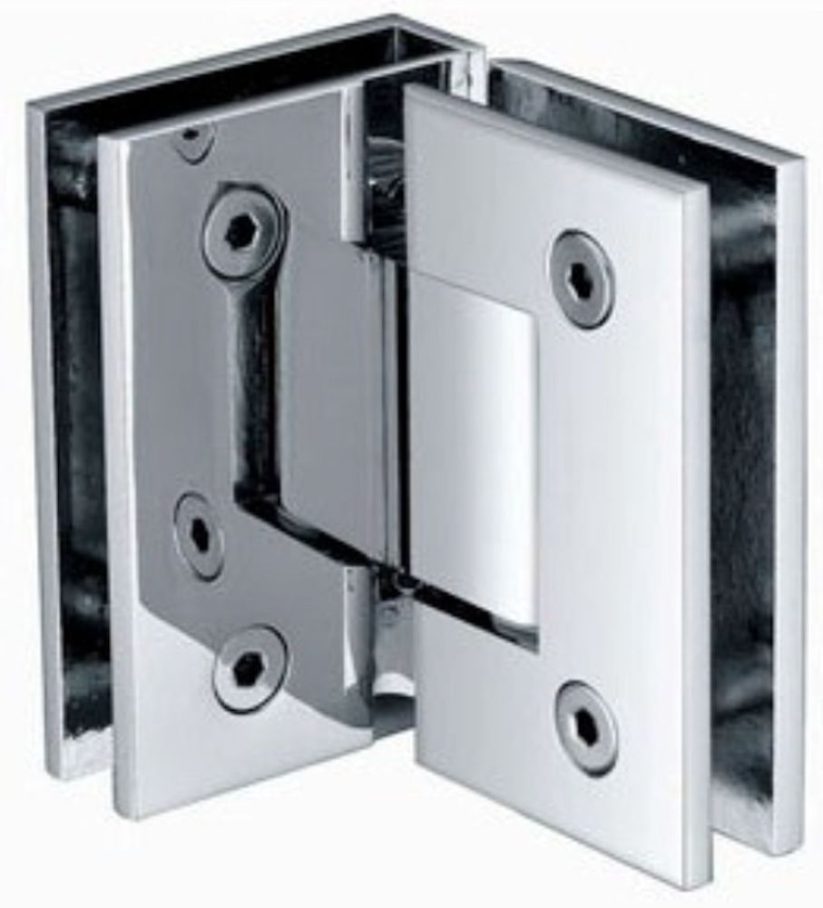 Shower Door Hinge - 90 Degree Glass to Glass - Chrome or Brushed ...