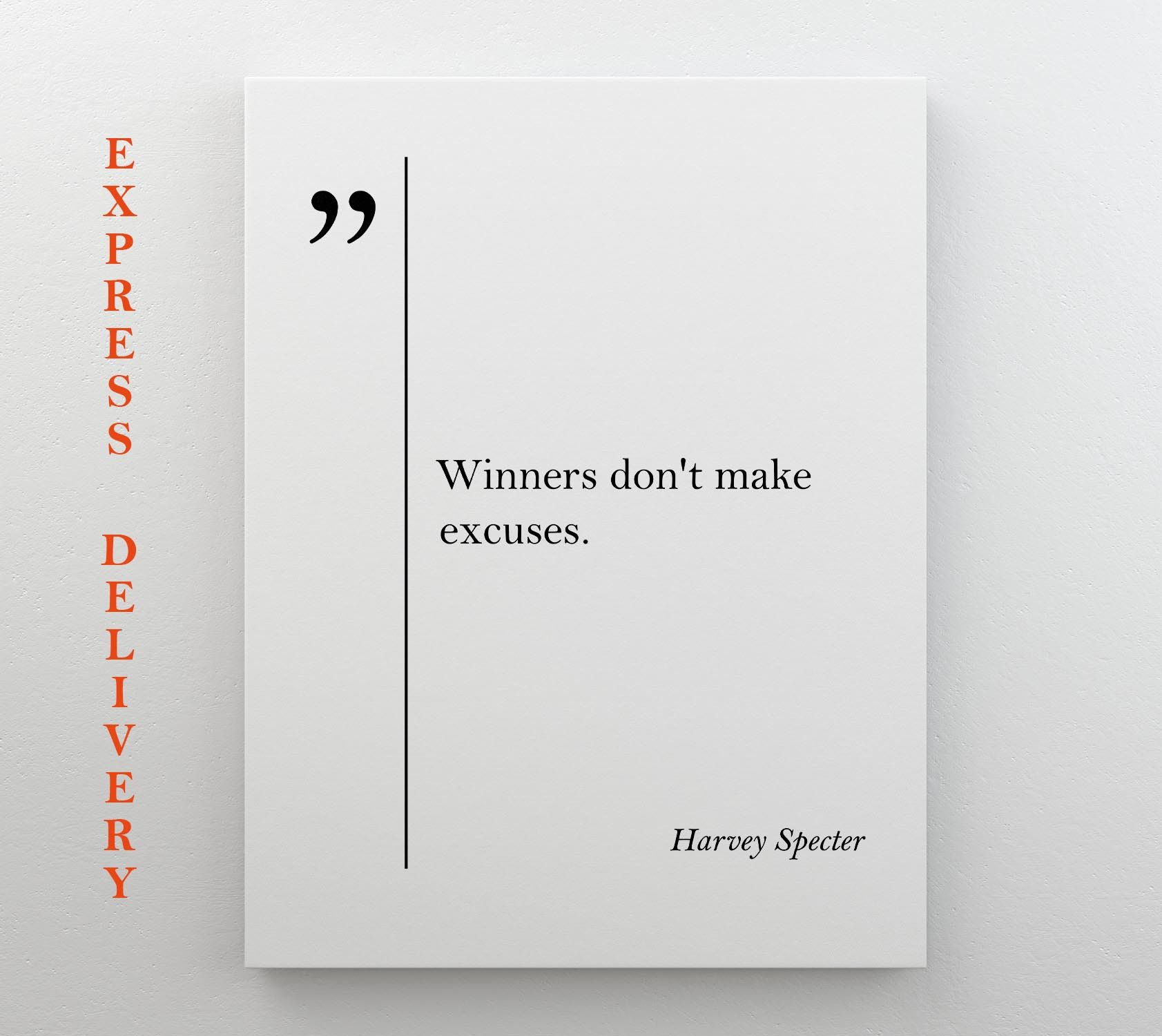 Harvey Specter Quote Suits Canvas Art Suits Quotes Inspiring Wall Art Lawyer Gift Harvey Specter Print Grea Canvas Quotes Motivational Prints Canvas Art Quotes