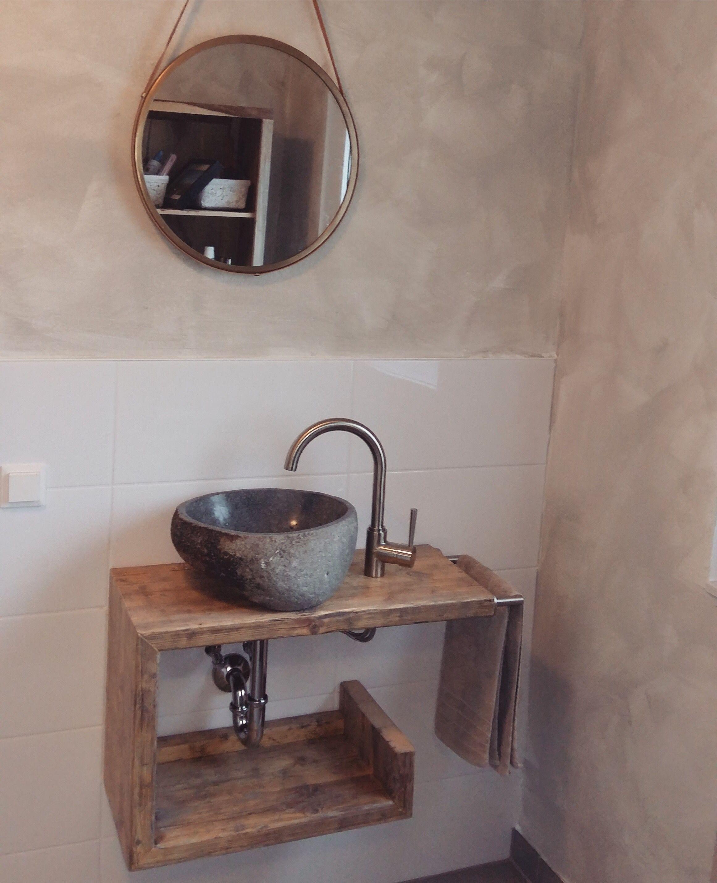 Altholz Waschtisch Waschbeckenunterschrank Badezimmer in ...