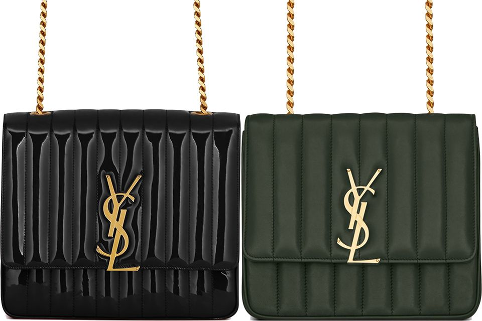 ad5442ae34 The unique-crafted Saint Laurent Vicky Bag, see those vertical quilting.  Love! More info here: