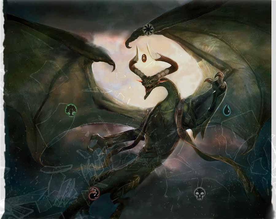 Nicol Bolas Wallpaper By Clavat99 On Deviantart Artist Magic Art Jason Chan