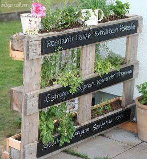 r cup palettes pour faire plantations d 39 aromates florist shop fitouts pinterest. Black Bedroom Furniture Sets. Home Design Ideas