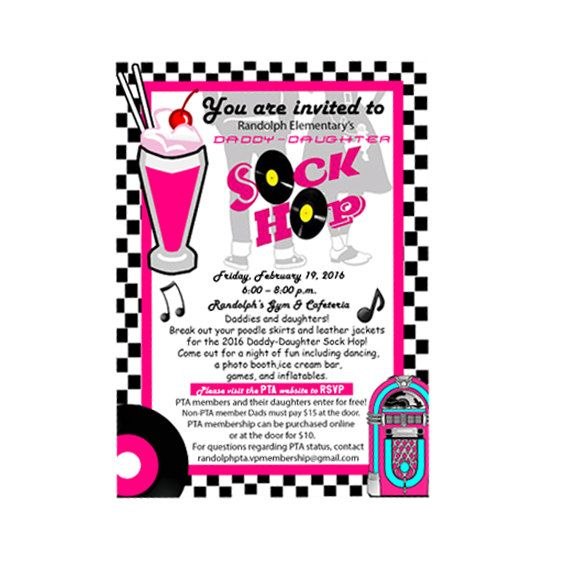Sock Hop Daddy Daughter Dance Decorations
