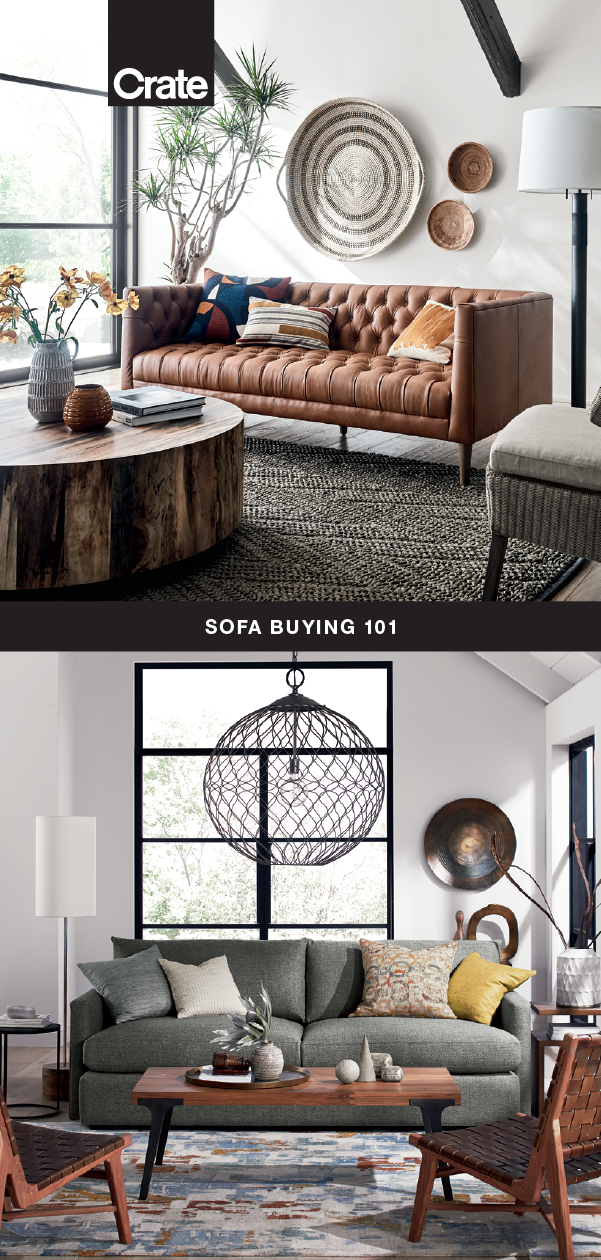 Types Of Sofas A Buying Guide Crate And Barrel Types Of Sofas Bed Decor African Inspired Decor