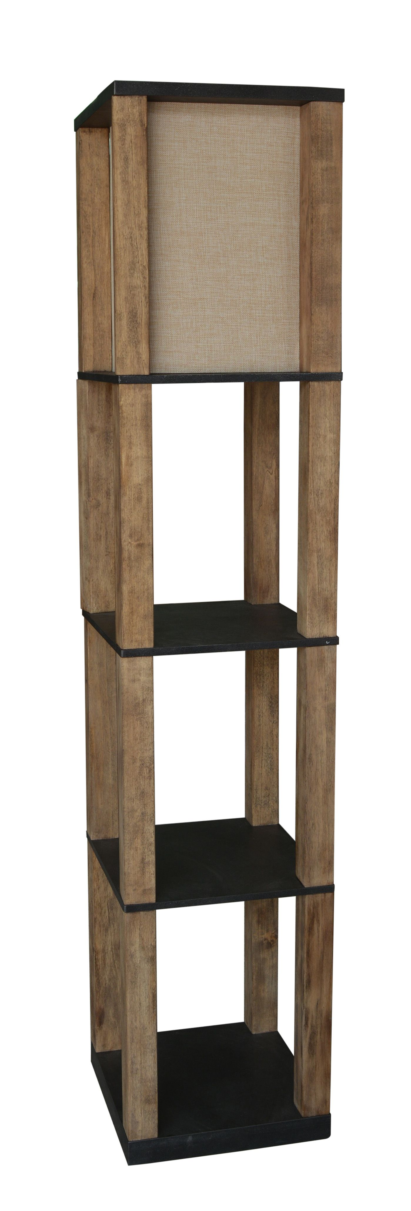 LPS 212: Wooden Shelf Floor Lamp By Lamps Per Se