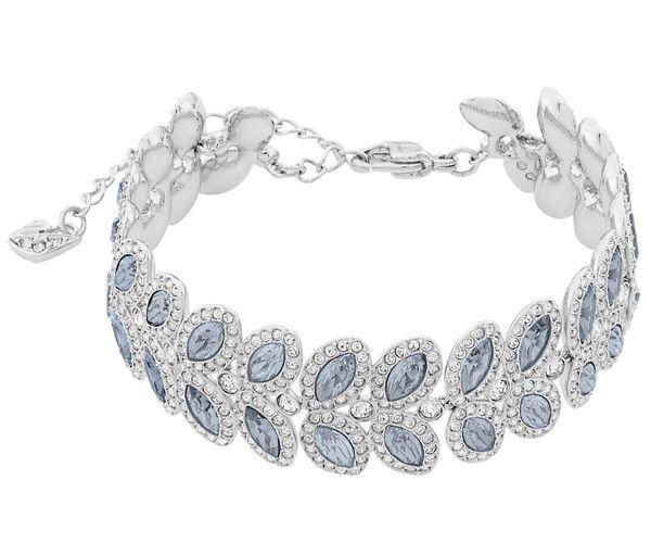 Baron Bracelet Blue Rhodium Plated Swarovski Bracelet Blue Crystal Bracelet Swarovski Crystal Bracelet