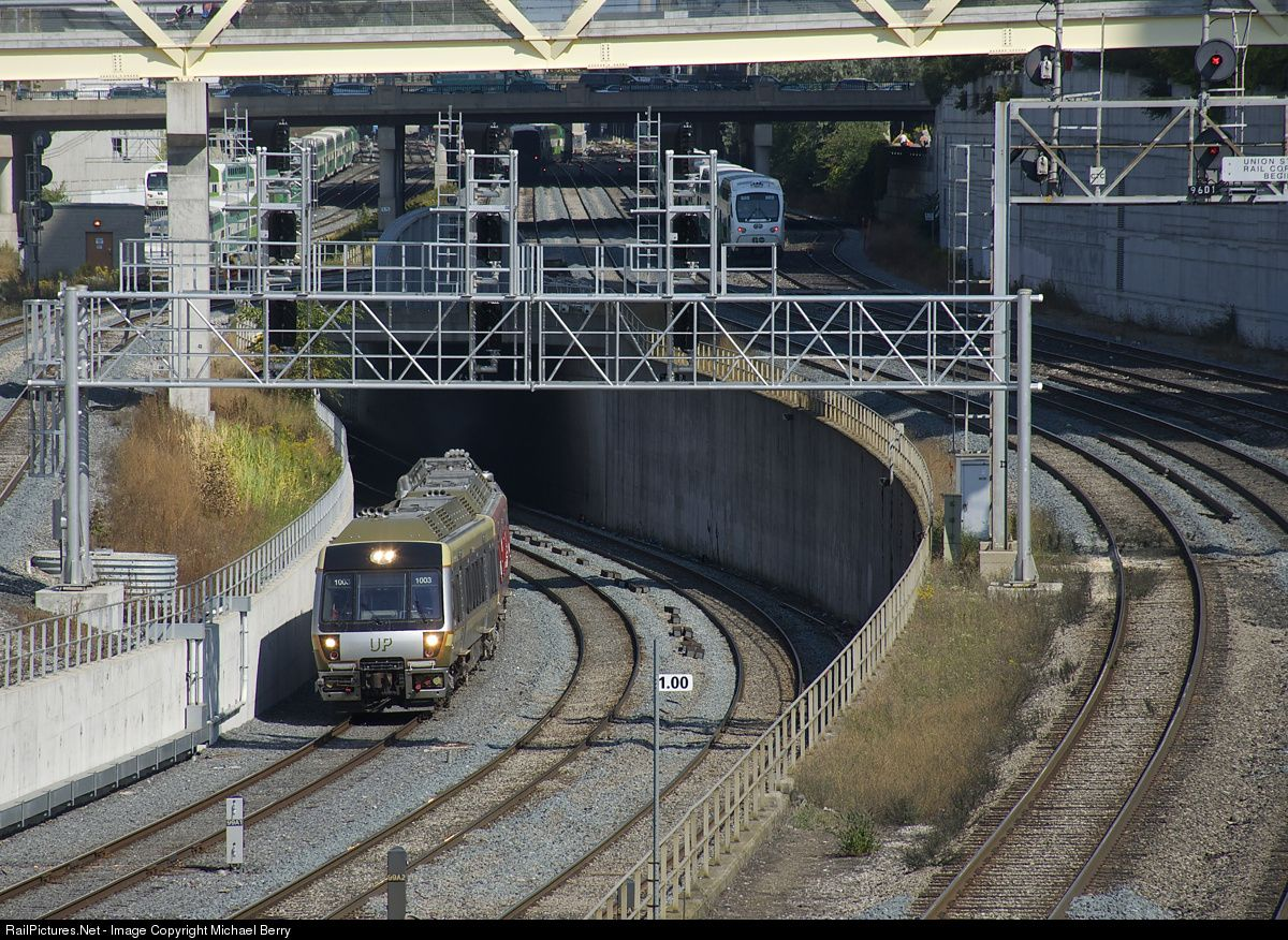 UPX 1003 Union Pearson Express Nippon Sharyo DMU at Toronto, Ontario, Canada by Michael Berry