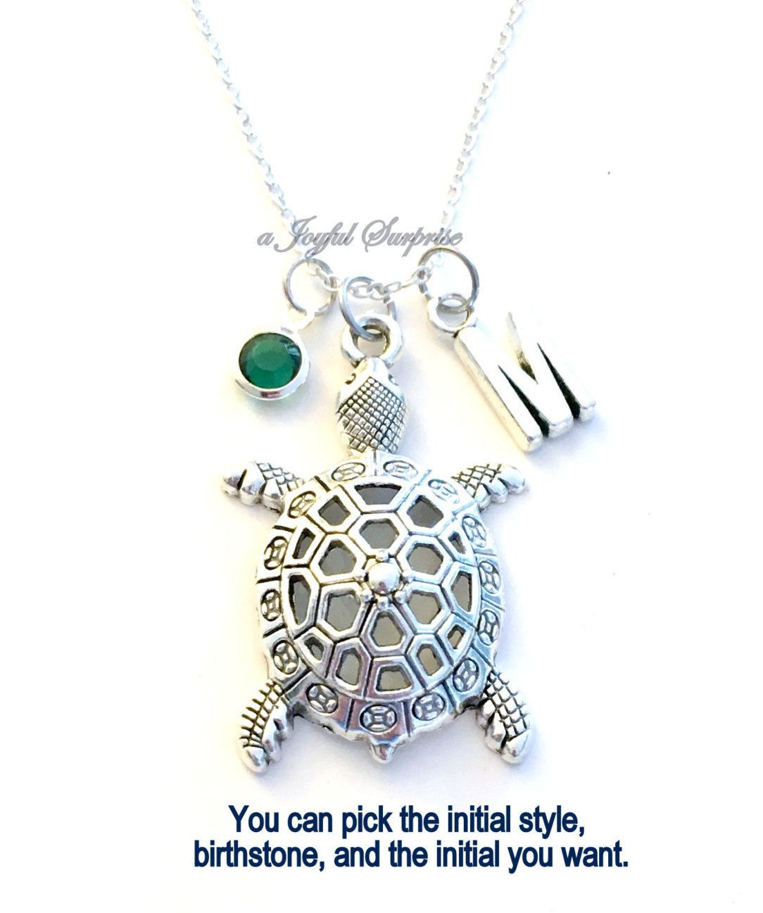 925 Sterling Silver Charm Sea Turtle Unique Tree of Life Pendant Necklace Tortoise Animal Jewelry for Women Girl deGTi7tEo