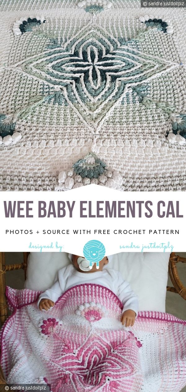 Wee Baby Elements CAL Free Crochet Pattern #crochetelements