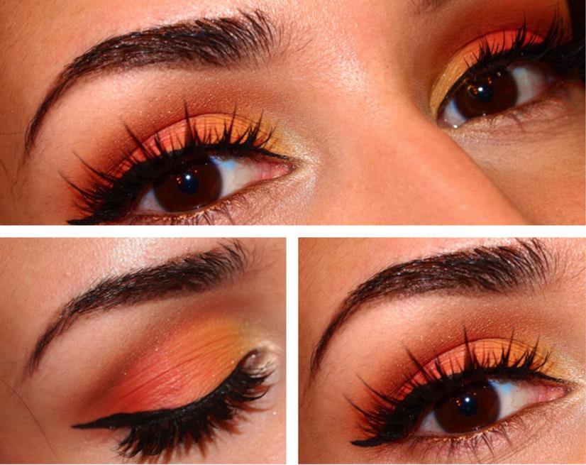 Arabian Sunset Jasmin palette makeup by JulieGbeauty (orange eye shadow)