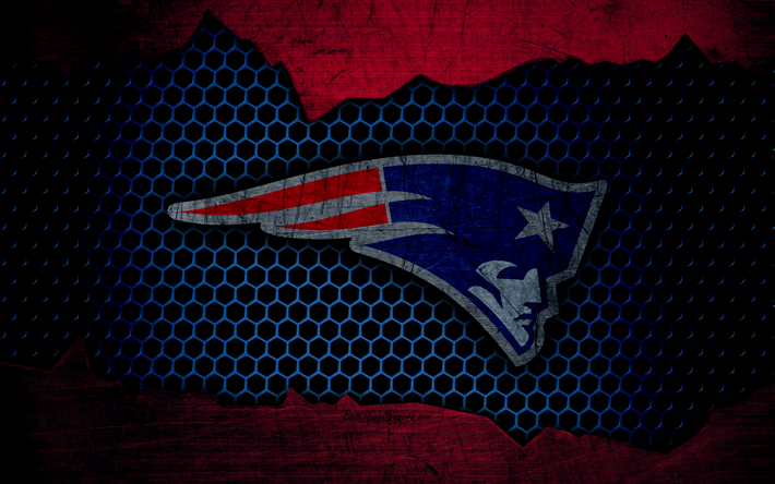 Download wallpapers New England Patriots, 4k, logo, NFL