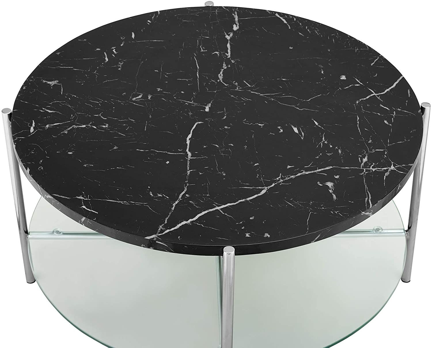 Modern Metal Round Coffee Accent Table Living Room 32 Inch Black Marble Living Room Accent Tables Black Marble Accent Table [ 1207 x 1500 Pixel ]