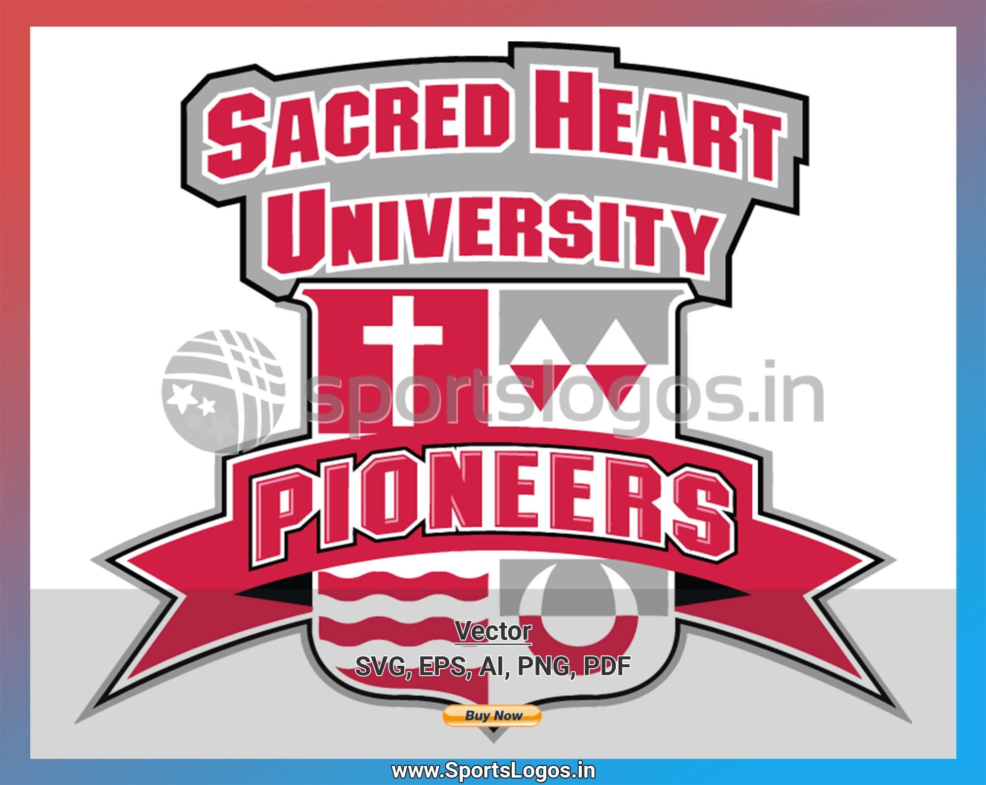 Sacred Heart Pioneers College Sports Vector SVG Logo in