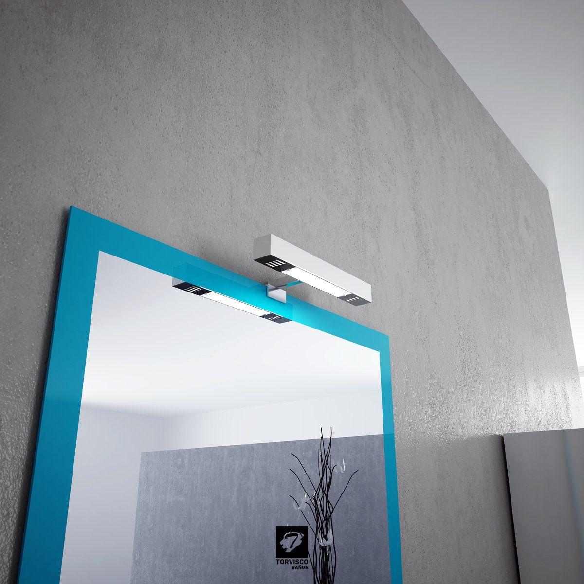 Detalle Del Espejo R Os En Color Azul Y Foco X Del Cat Logo  # Muebles El Foco