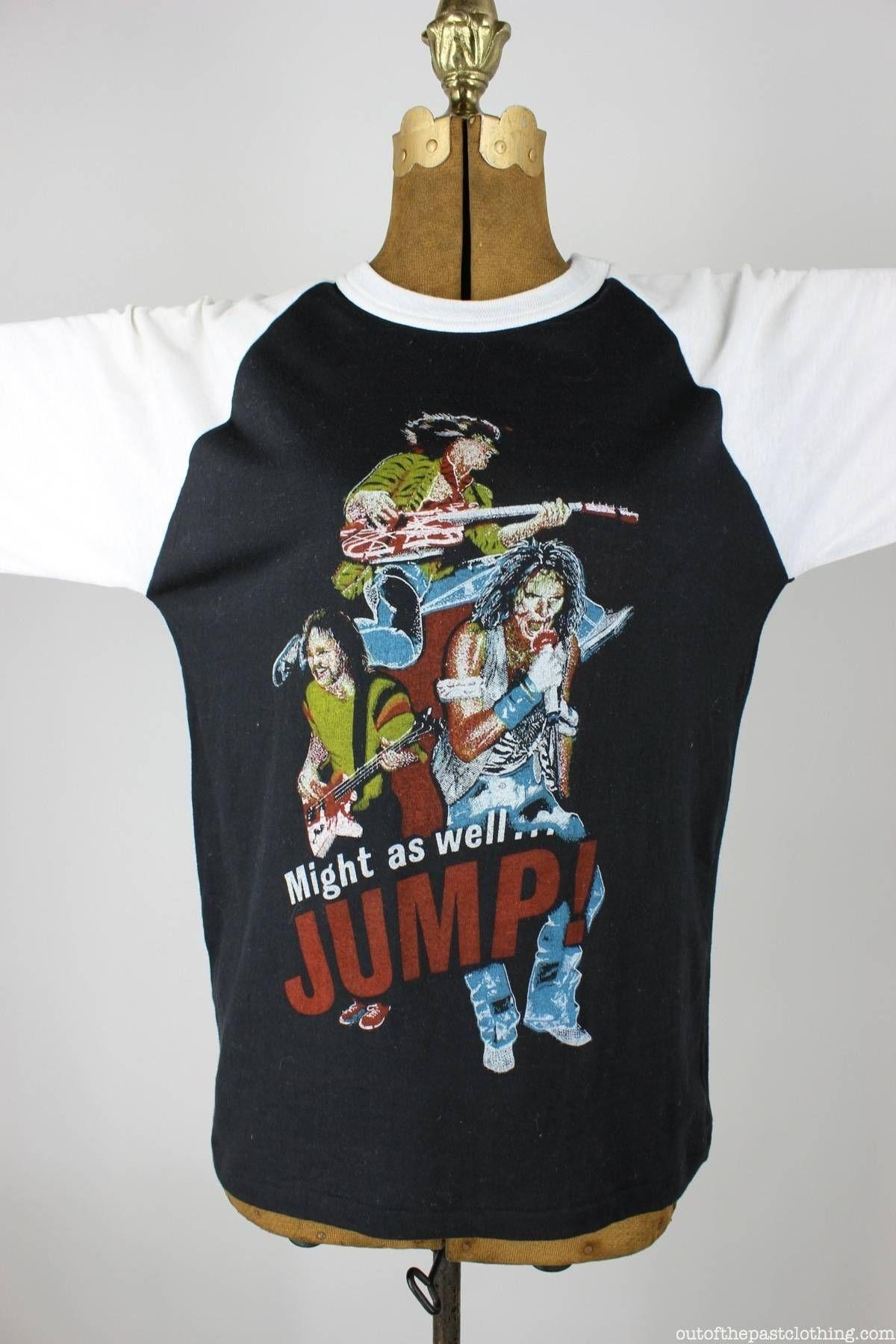 Van Halen Dead Stock Vintage Jump Baseball T Shirt Size L Baseball Tshirts Vintage Tshirts Van Halen