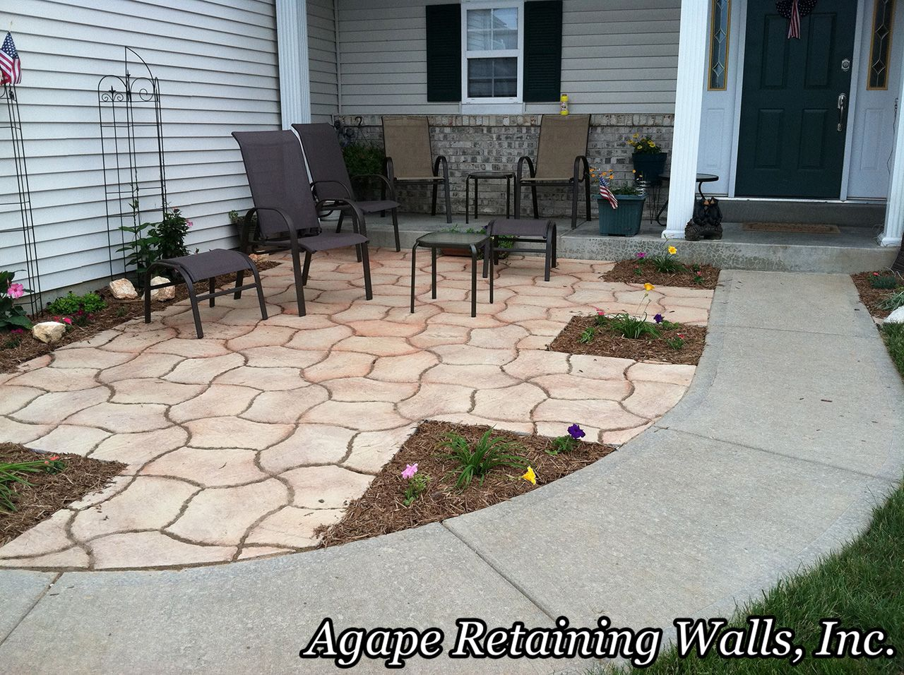 Front Yard Patio Small Step