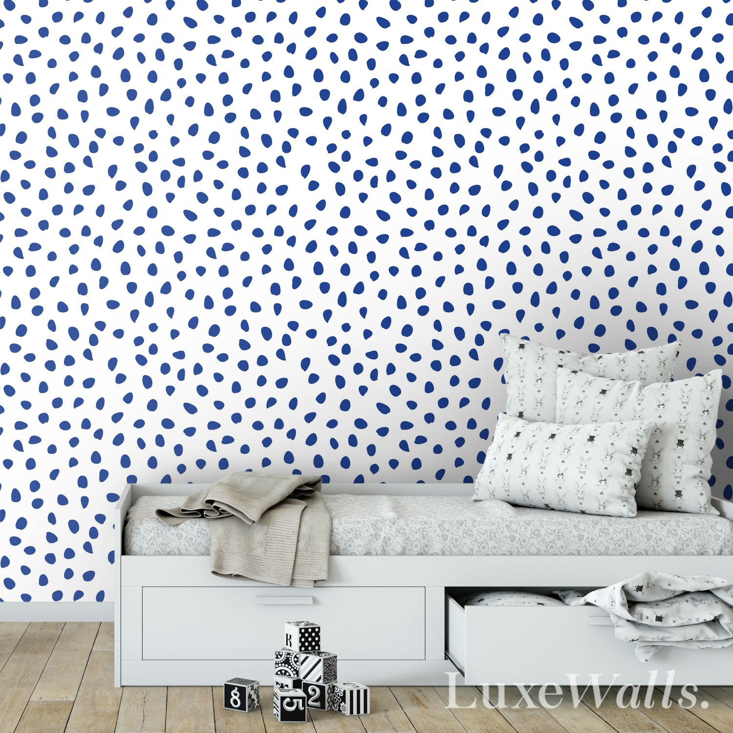 Navy Dot Wallpaper (With images) Dots wallpaper, Navy