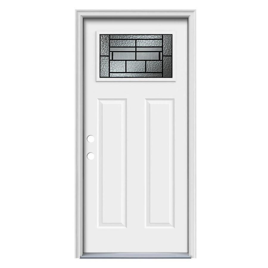 ThermaTru Benchmark Doors Pembrook Craftsman Decorative Glass Right