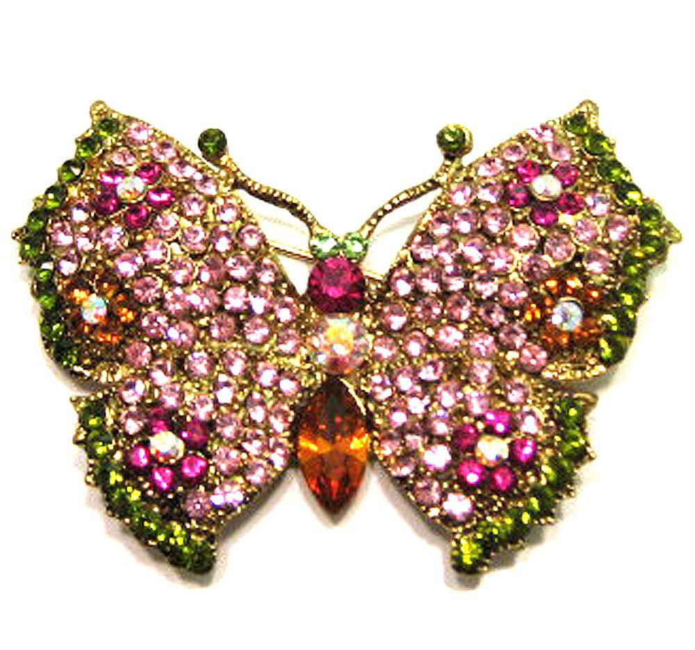 3fb5183f5b7 Flower Butterfly Pin-Rose   Insect Brooches   Butterfly pin ...