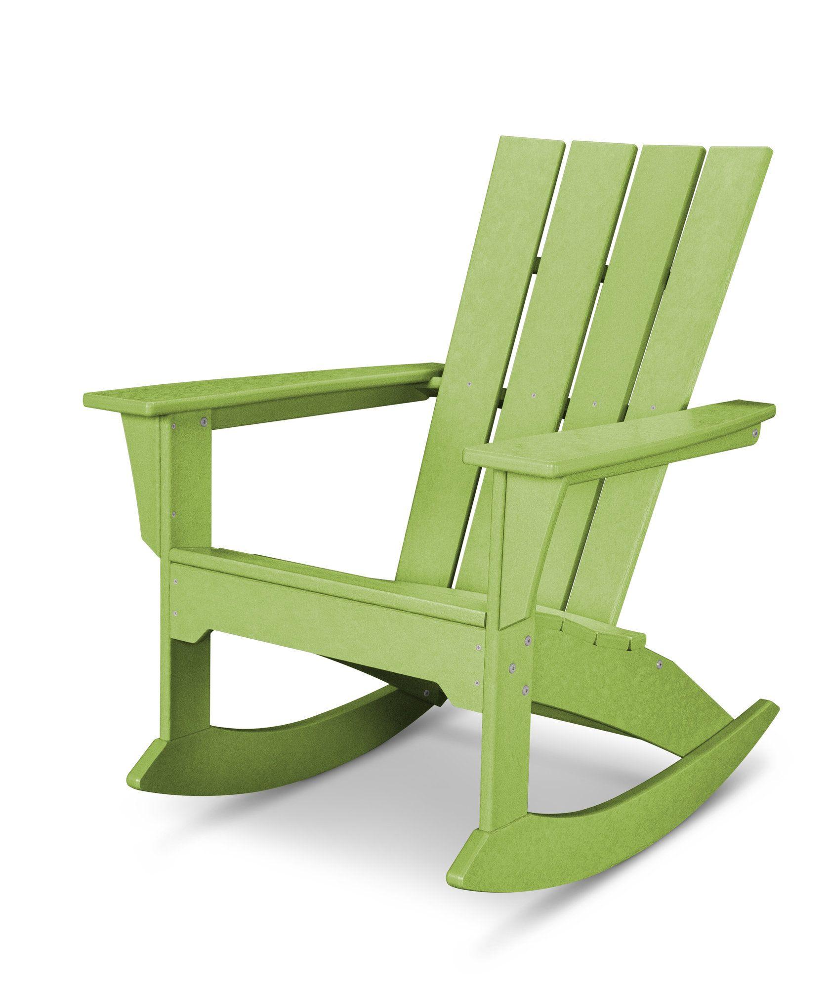Quattro Plastic Resin Adirondack Chair Rocking Chair Plastic