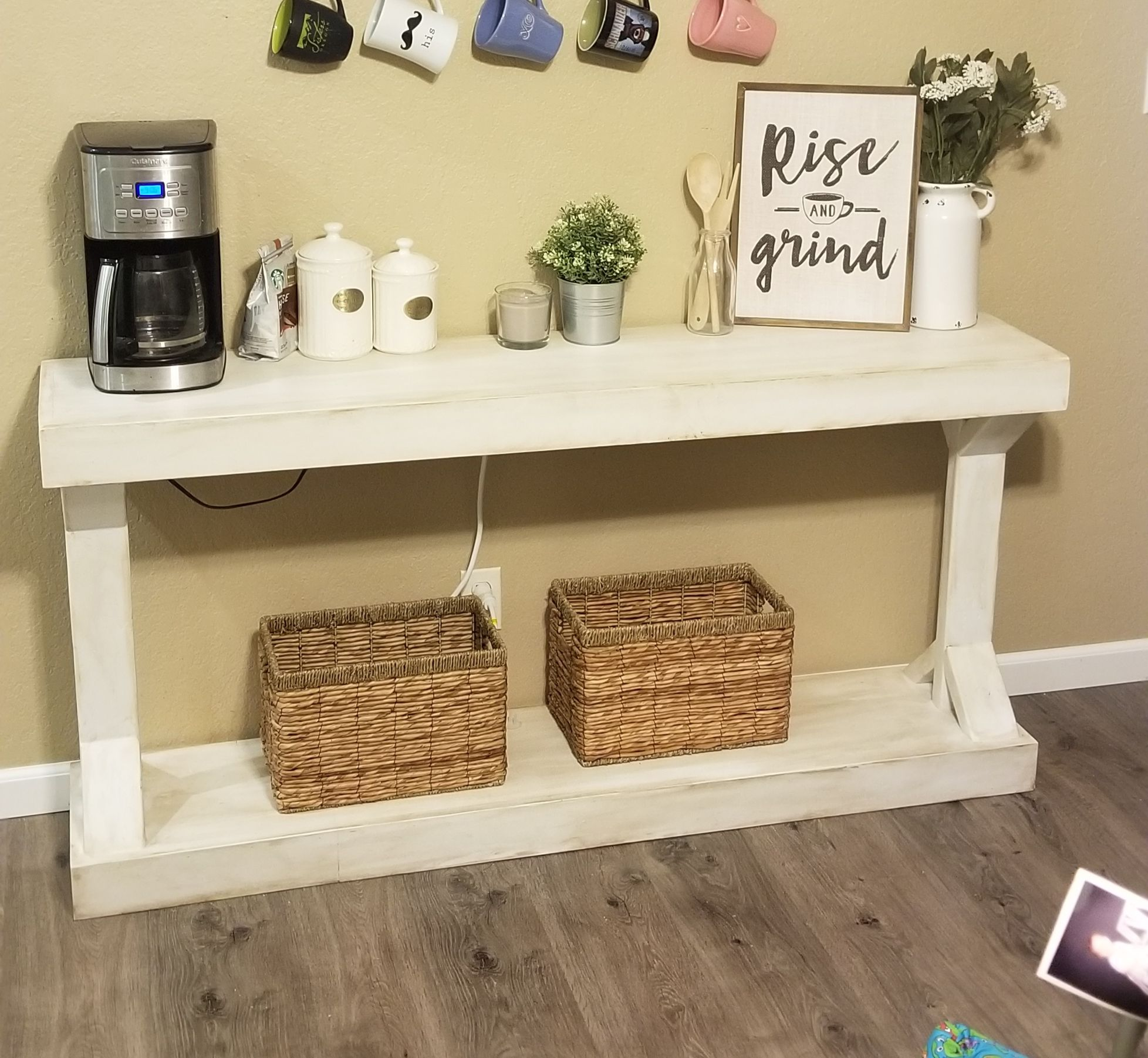 Diy Coffee Station Narrow Console Table Ana White Narrow Console Table Diy Coffee Bar Table Diy Console Table