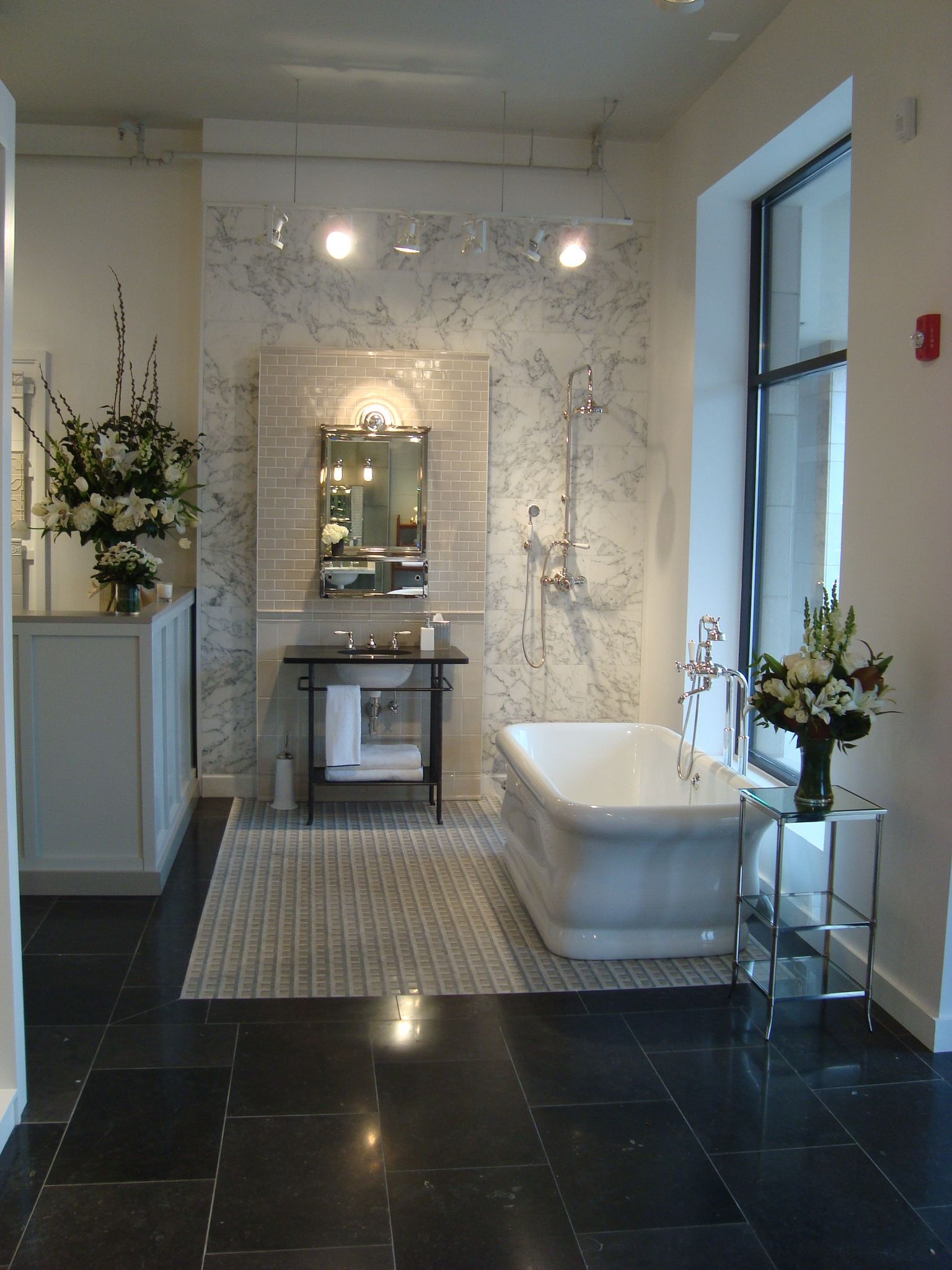 Denver Design District Showroom Bathroom Display Glass Bathroom