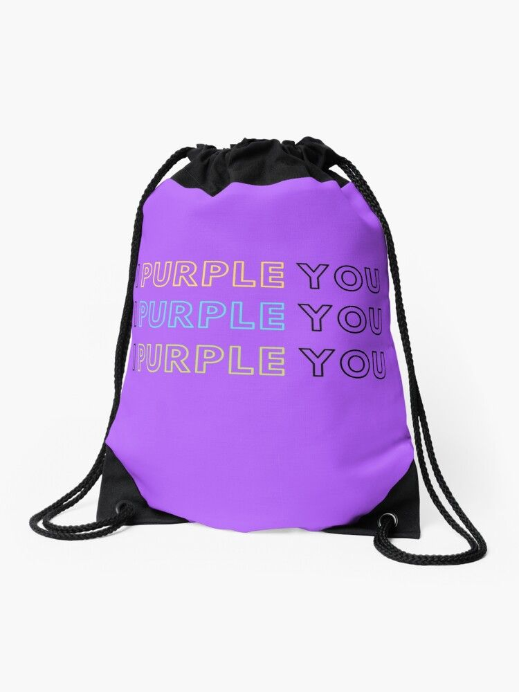 Bts X Army I Purple You Drawstring Bag By Kamdongmoon Drawstring Bag Drawstring Bag Designs Bags