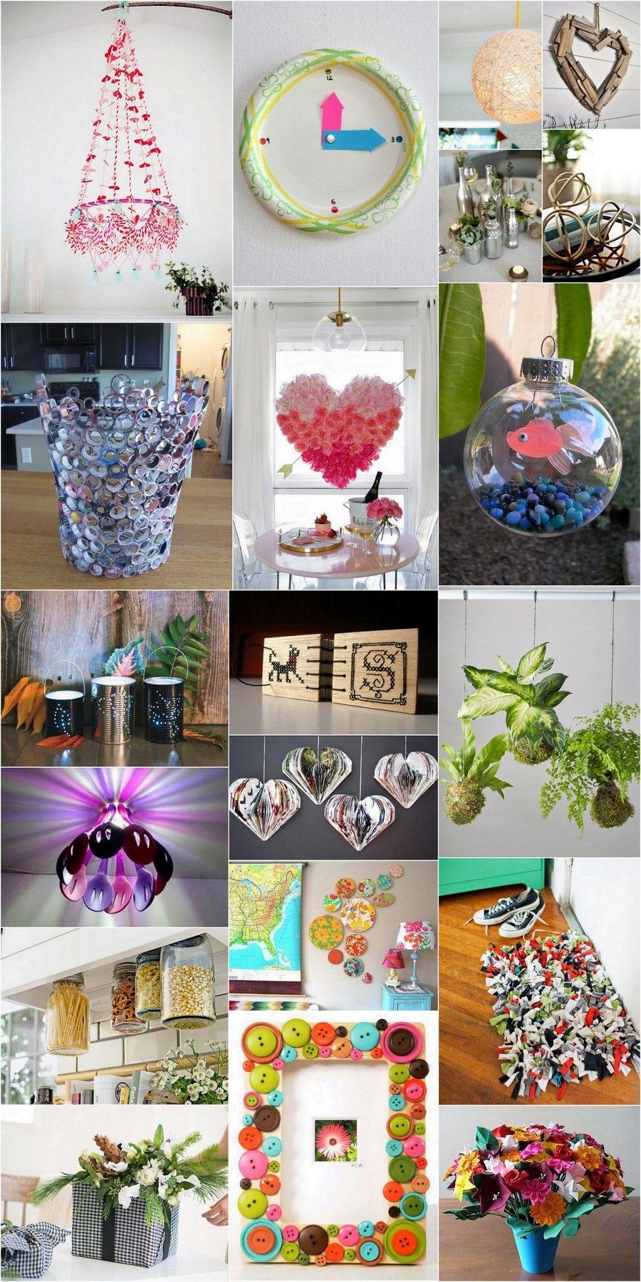 Creative Handmade Crafts Ideas for Home Decor, table