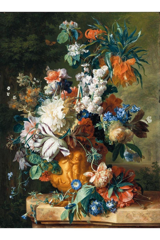 Bouquet de fleurs van huysum divers pinterest for Bouquet de fleurs wiki