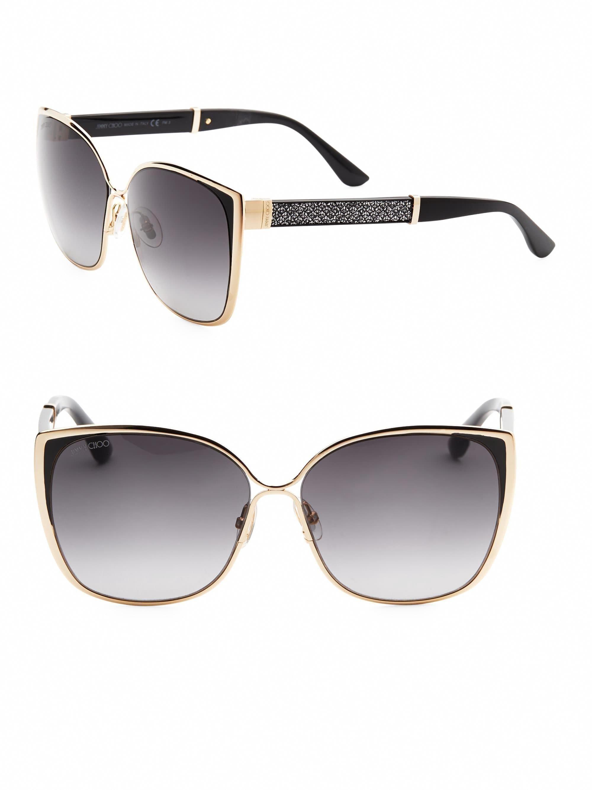 c1fd86edba4a9 Jimmy Choo Maty 58Mm Square Sunglasses - Grey  JimmyChoo